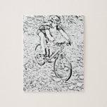 El biking de la montaña rompecabezas con fotos