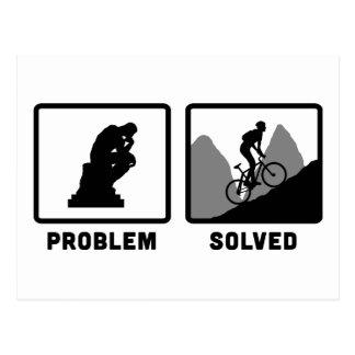 El Biking de la montaña Tarjetas Postales