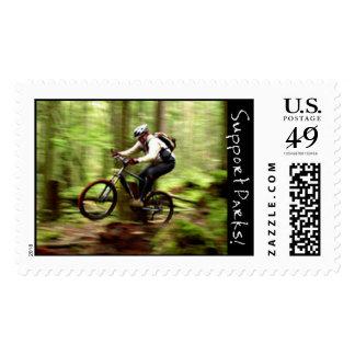 El Biking de la montaña Timbre Postal
