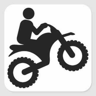 El Biking de la suciedad Pegatina Cuadrada