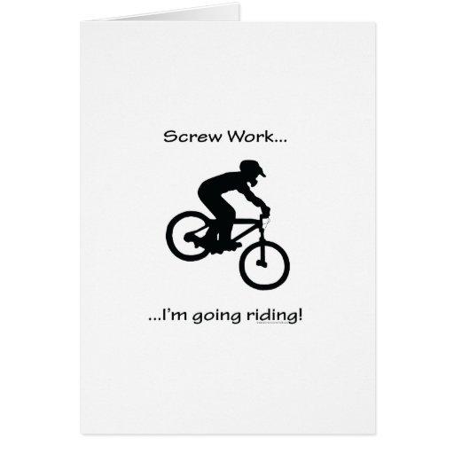 El Biking de la Trabajo-Montaña del tornillo Tarjeta De Felicitación