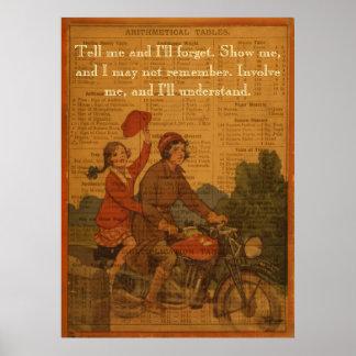 El Biking de nuevo a escuela Póster
