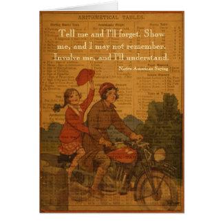 El Biking de nuevo a escuela Tarjeta De Felicitación