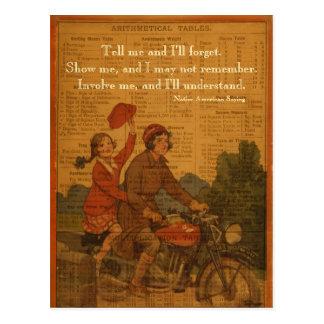 El Biking de nuevo a escuela Tarjeta Postal