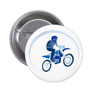 El Biking del vector del motorista de la suciedad Pin Redondo 5 Cm