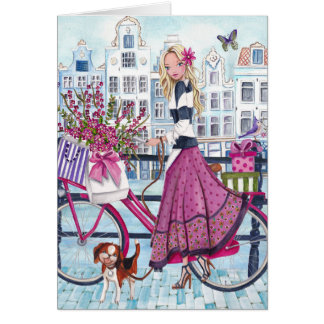 El Biking en Amsterdam - tarjeta de cumpleaños