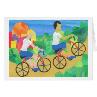 El Biking en Central Park Tarjeta De Felicitación