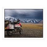 El Biking en las montañas de Altai - postal de Mon