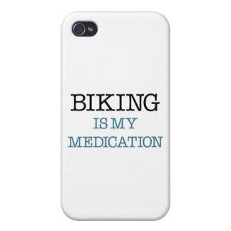 El Biking es mi medicación iPhone 4/4S Carcasa