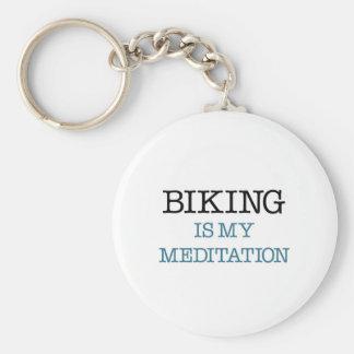 El Biking es mi meditación Llaveros