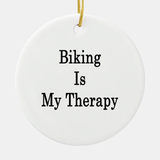 El Biking es mi terapia Ornamento Para Reyes Magos