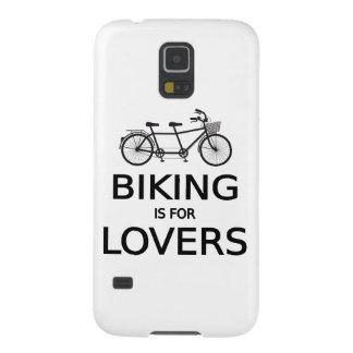el biking está para los amantes, bicicleta en carcasa para galaxy s5
