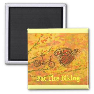 el biking gordo del neumático imán cuadrado