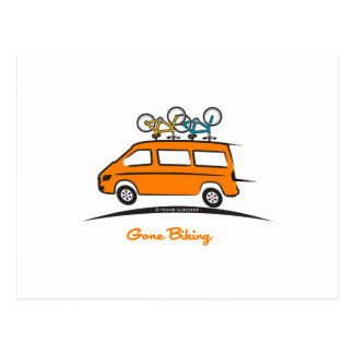 El Biking ido esprinter de Mercedes Tarjetas Postales
