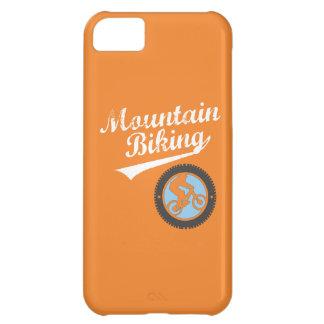 El Biking, naranja, azul y blanco de la montaña Funda Para iPhone 5C