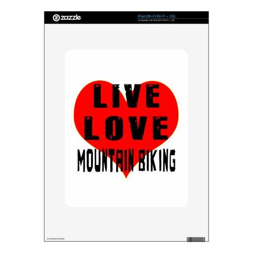 El Biking vivo de la montaña del amor Skins Para eliPad
