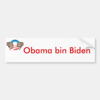 El bin Biden de Obama manosea con los dedos abajo Pegatina Para Auto