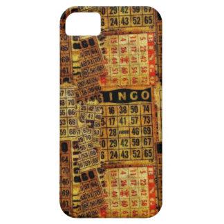 El bingo del vintage carda el collage - iPhone 5 iPhone 5 Funda