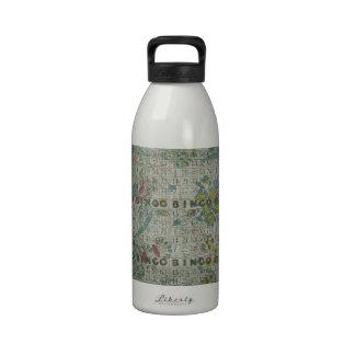 el bingo del vintage carda las flores botellas de agua reutilizables