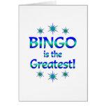 El bingo es el más grande felicitaciones