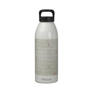 El bingo gris del vintage numera el fondo botella de agua reutilizable
