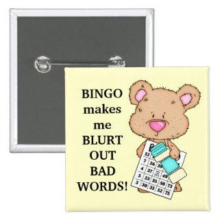 El bingo hace que abotona pin