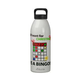 El BINGO I quiere un bingo para el navidad Botellas De Beber