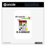 El BINGO I quiere un bingo para el navidad iPod Touch 4G Skin
