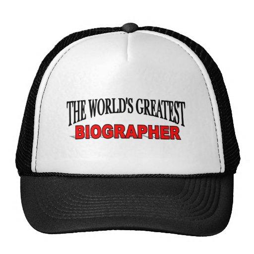 El biógrafo más grande del mundo gorras de camionero