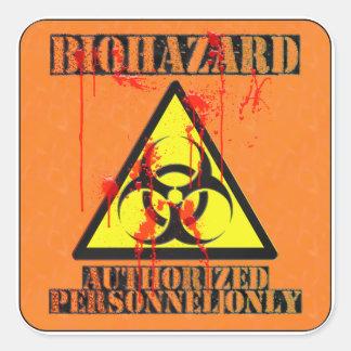 El Biohazard autorizó personales solamente Pegatina Cuadrada