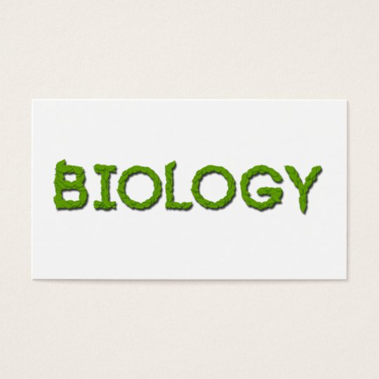 El biólogo de la biología deja tarjetas de visita