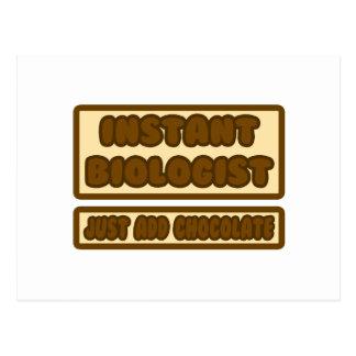 El biólogo inmediato… apenas añade el chocolate tarjetas postales