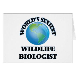El biólogo más atractivo de la fauna del mundo tarjeta