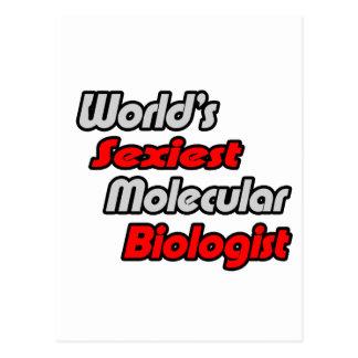 El biólogo molecular más atractivo del mundo tarjeta postal