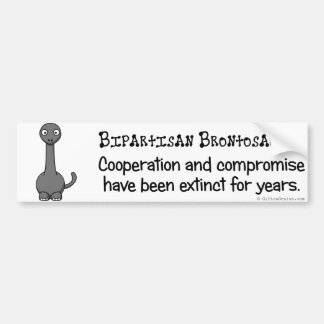 El Bipartisanship está extinto como el dinosaurio Pegatina Para Auto