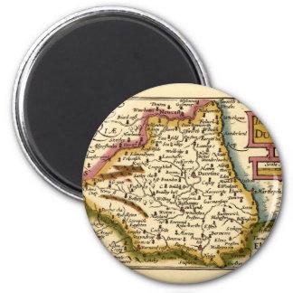 El Bishopprick del mapa del condado de Durham, Ing Imán Redondo 5 Cm