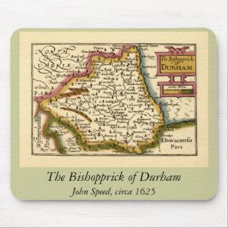 El Bishopprick del mapa del condado de Durham, Ing Mouse Pads
