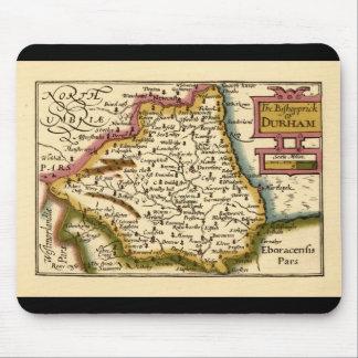 El Bishopprick del mapa del condado de Durham, Ing Tapetes De Ratones
