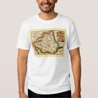 El Bishopprick del mapa del condado de Durham, Playera