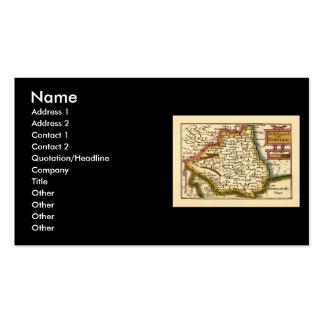 El Bishopprick del mapa del condado de Durham, Tarjetas De Visita