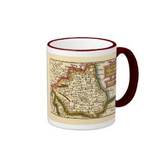 El Bishopprick del mapa del condado de Durham, Taza De Dos Colores