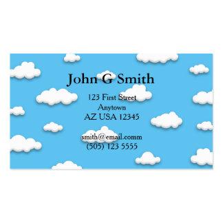 el blanco 3D se nubla la tarjeta de visita