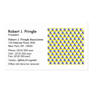 El blanco amarillo azul claro sombreó los cubos de tarjetas de visita