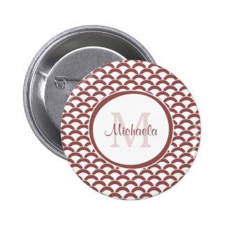El blanco atractivo moderno de Brown hornea el Pin Redondo 5 Cm