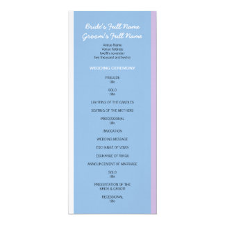 """El blanco azul de la lila raya programa azul del invitación 4"""" x 9.25"""""""