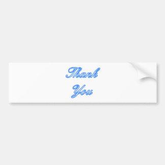 El blanco azul le agradece diseñar el regalo de Za Pegatina Para Auto