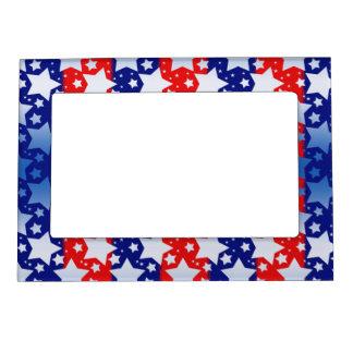 El blanco azul protagoniza rayas azules rojas foto de imanes