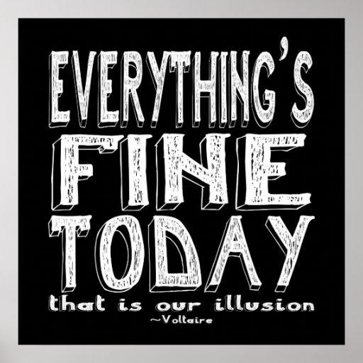 El blanco de Voltaire todo está muy bien hoy Poster