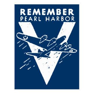 El blanco de WWII recuerda el Pearl Harbor Tarjetas Postales