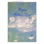 El blanco del día de padre se nubla la tarjeta de